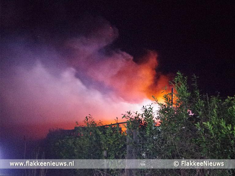 Schuurbrand in polder Oude-Tonge - FlakkeeNieuws Goeree-Overflakkee