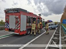Foto behorende bij N59 afgesloten vanwege groot ongeval