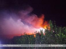 Foto behorende bij Schuurbrand in polder Oude-Tonge